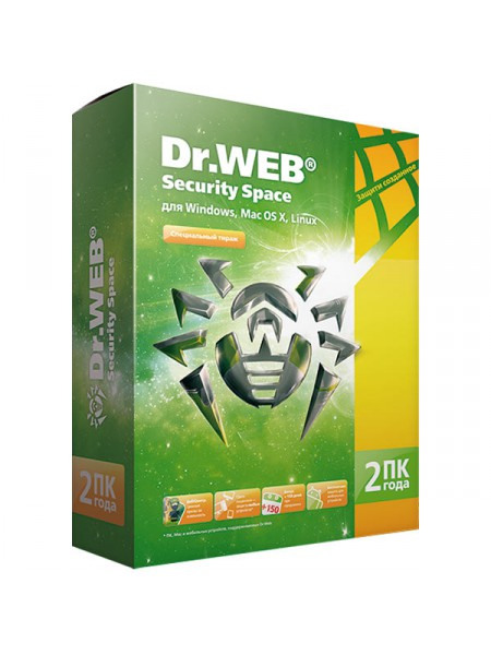 ПО Антивирус Dr Web Security Space Pro 7.0v 2 ПК 2 года BOX (AHW-B-24M-2A2)