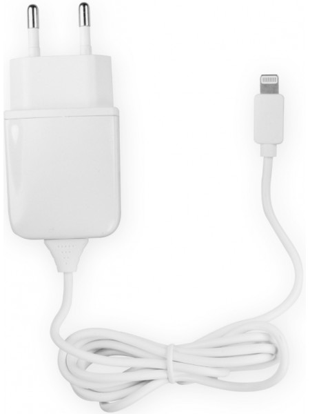 Сетевое зарядное устройство OLMIO Apple 8-pin iPhone 5/6 1000 mA White
