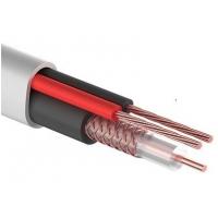 Коаксиальный кабель КВК-В-2 - 2х0,50мм², (Cu), белый   (для микрофона видеонаблюдения)