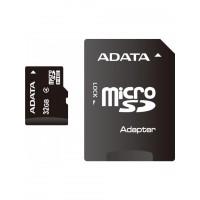 Карта памяти ADATA microSDHC Class 10 32GB + SD adapter
