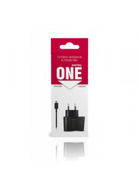 Зарядное устройство SmartBuy One, micro USB, 1000 mА, черный
