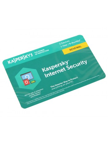 ПО Kaspersky Internet Security 2-Device 1 year Renewal Card