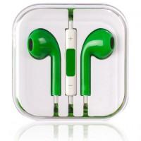 Гарнитура дизайн iPhone 5 зеленая