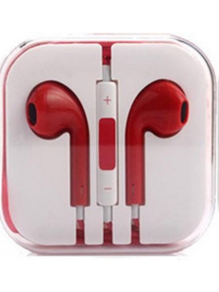 Гарнитура дизайн iPhone 5 красная