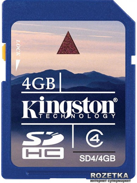 Карта памяти Kingston SD4/4GB SecureDigital High Capacity (SDHC) Class 4