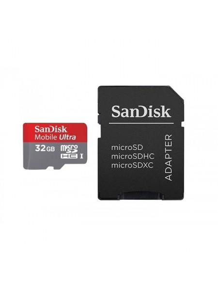 Карта памяти SanDisk Ultra <microSDHC-32Gb Class10