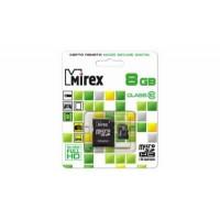 Флеш карта microSD 8GB Mirex microSDHC Class 10 (SD адаптер)