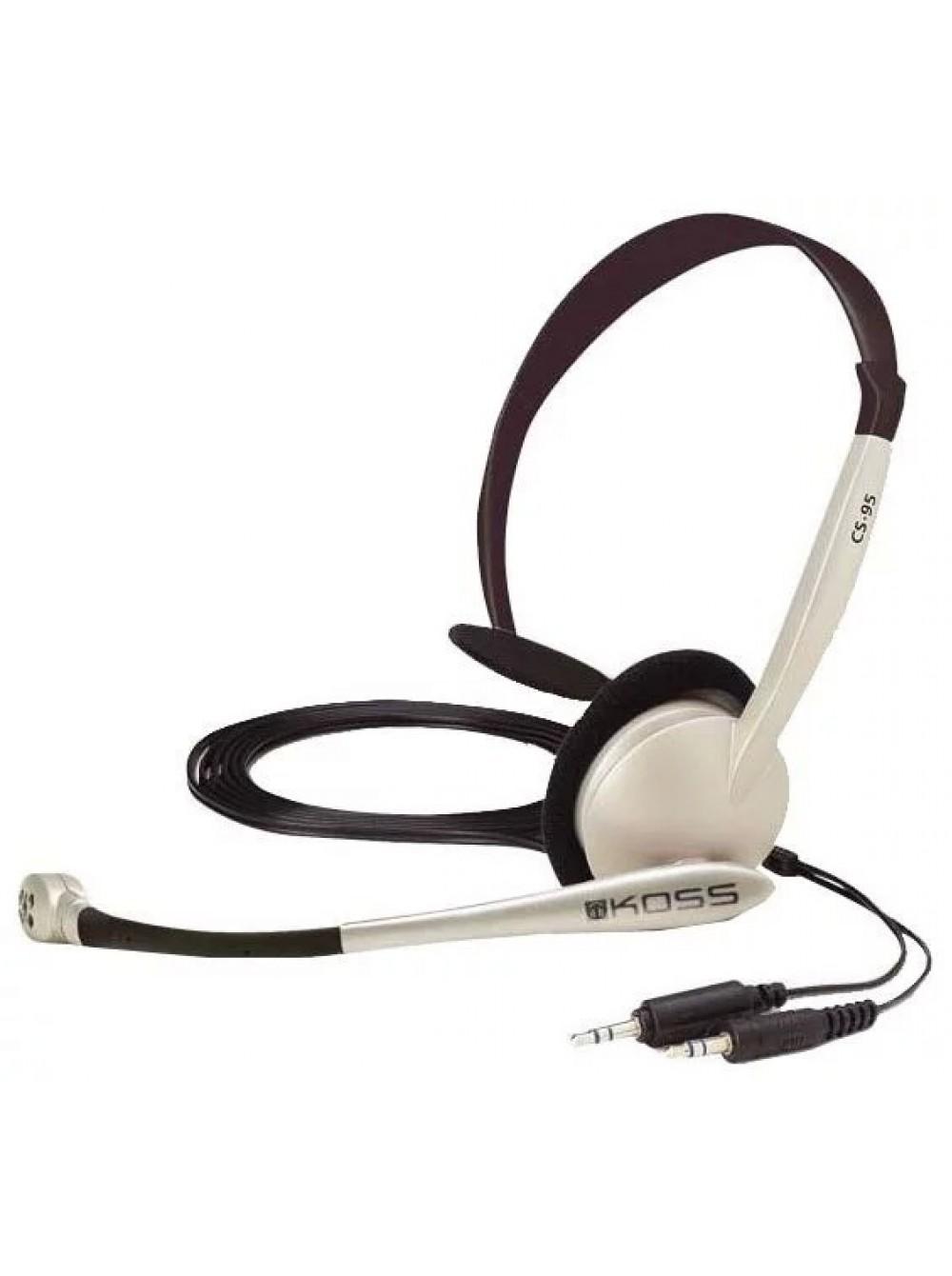 Наушники с микрофоном KOSS CS95 купить недорого – фото 9cd8d8c510f45