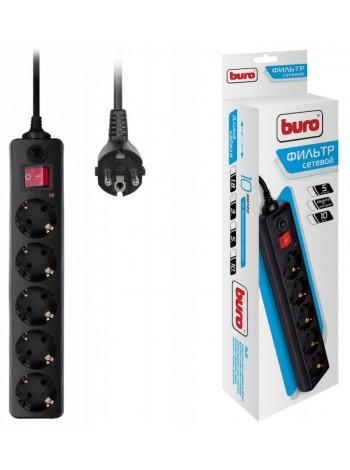 Сетевой фильтр BURO 500SH-3-B, 3 м