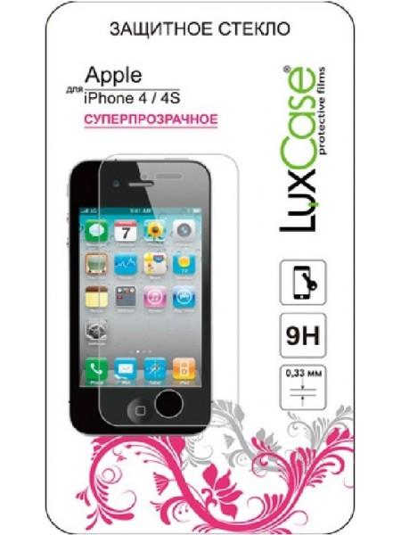 Стекло защитное LuxCase iPhone 4/4S прозрачное