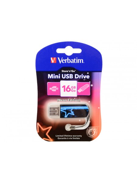Флеш устройство Verbatim 16Gb Mini Neon Edition