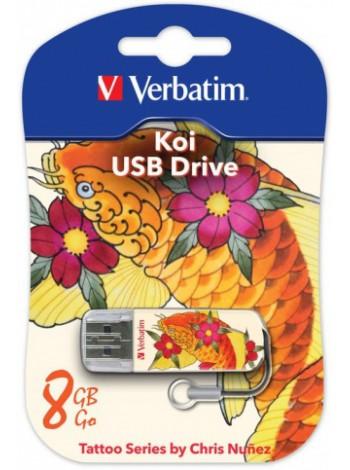 Флеш устройство Verbatim 8Gb Mini Tattoo Koi