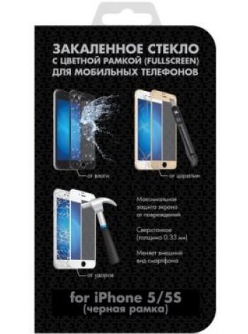 Закаленное стекло iColor-02 для Apple iPhone 5/5S Black