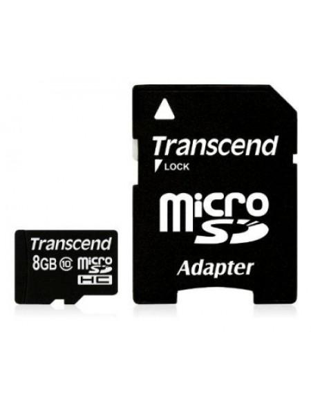 Карта памяти Transcend TS8GUSDC10 microSDHC 8Gb Class10