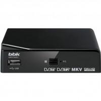 Ресивер для цифрового ТВ DVB-T2 BBK SMP015HDT2, темно-серый