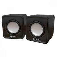 Колонки Perfeo Wave черный PF-128 2.0,2*3Вт, питание от USB