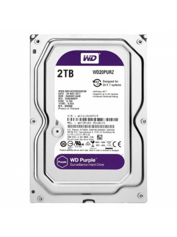 Жесткий диск Western Digital Purple 2 Тб WD20PURZ SATA